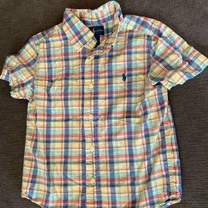 Ralph Lauren Boys Button Down Short Sleeve Shirt